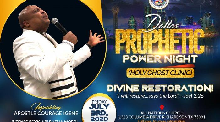 apostle courage dallas prophetic
